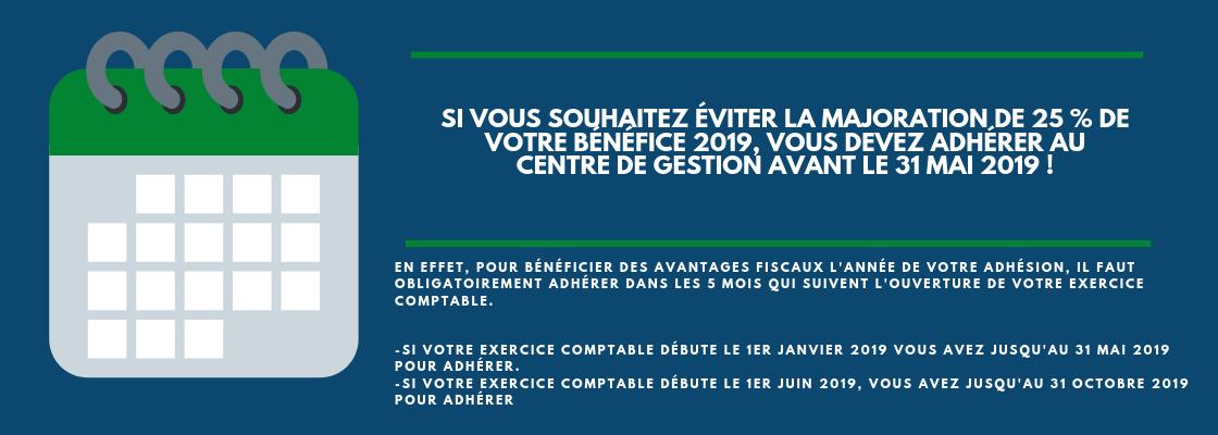 SI VOUS SOUHAITEZ ÉVITER LA MAJORATION DE 25 % DE VOTRE BÉNÉFICE, VOUS DEVEZ ADHÉRER AU CENTRE DE GESTION AVANT LE 31 MAI 2019.(3).png